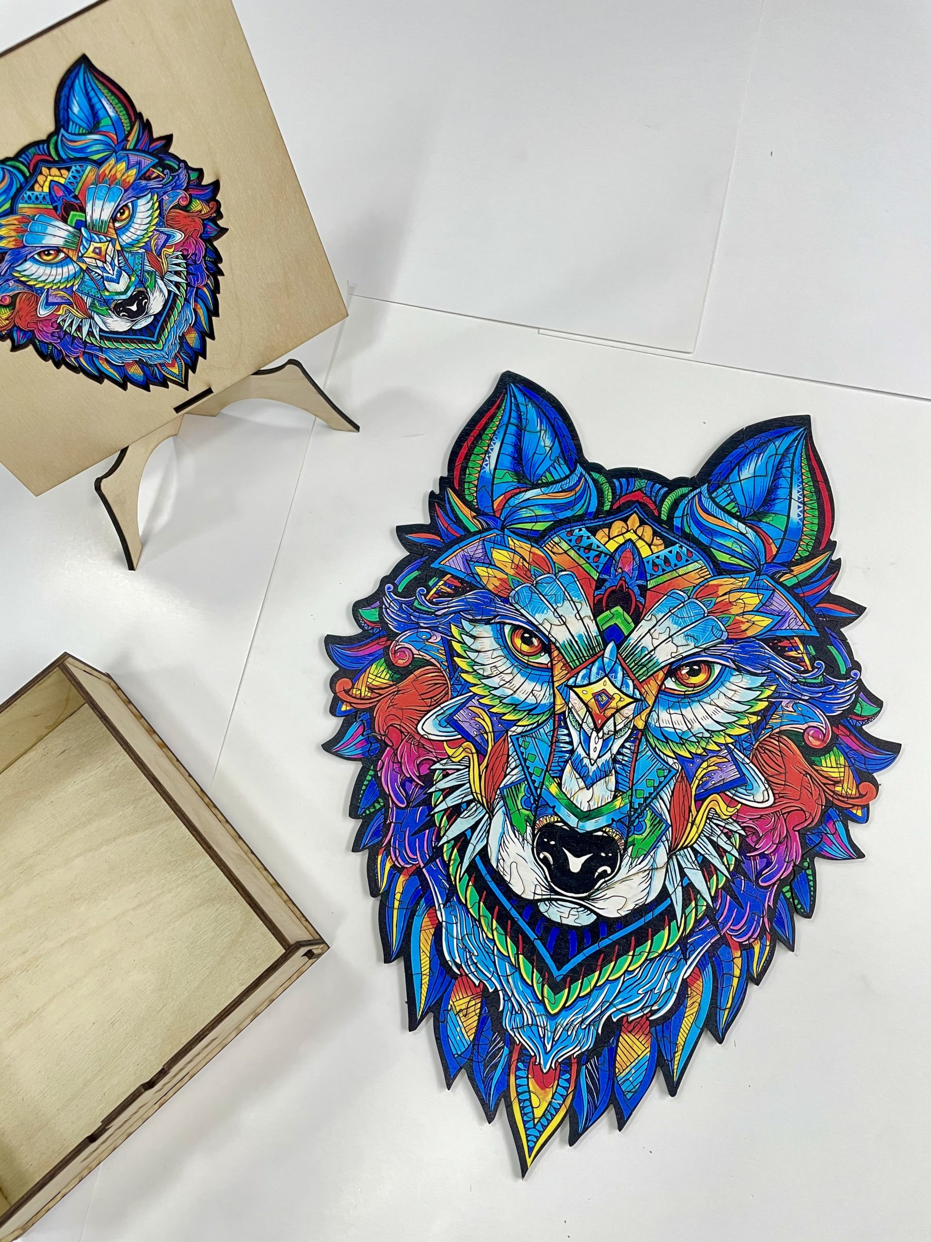 Majestic wolf Freestyle wooden Puzzle