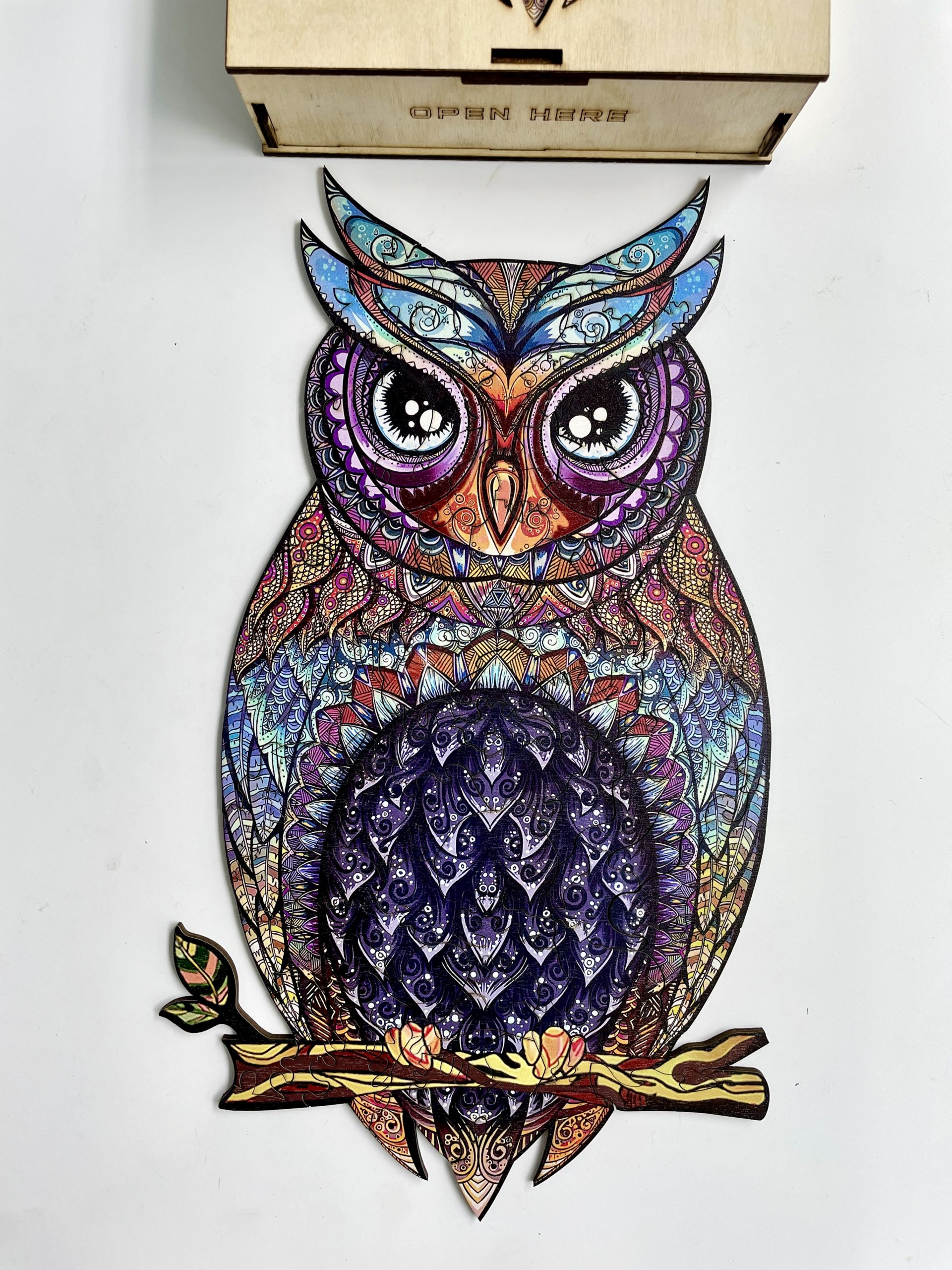Charming Owl Freestyle wooden Puzzle