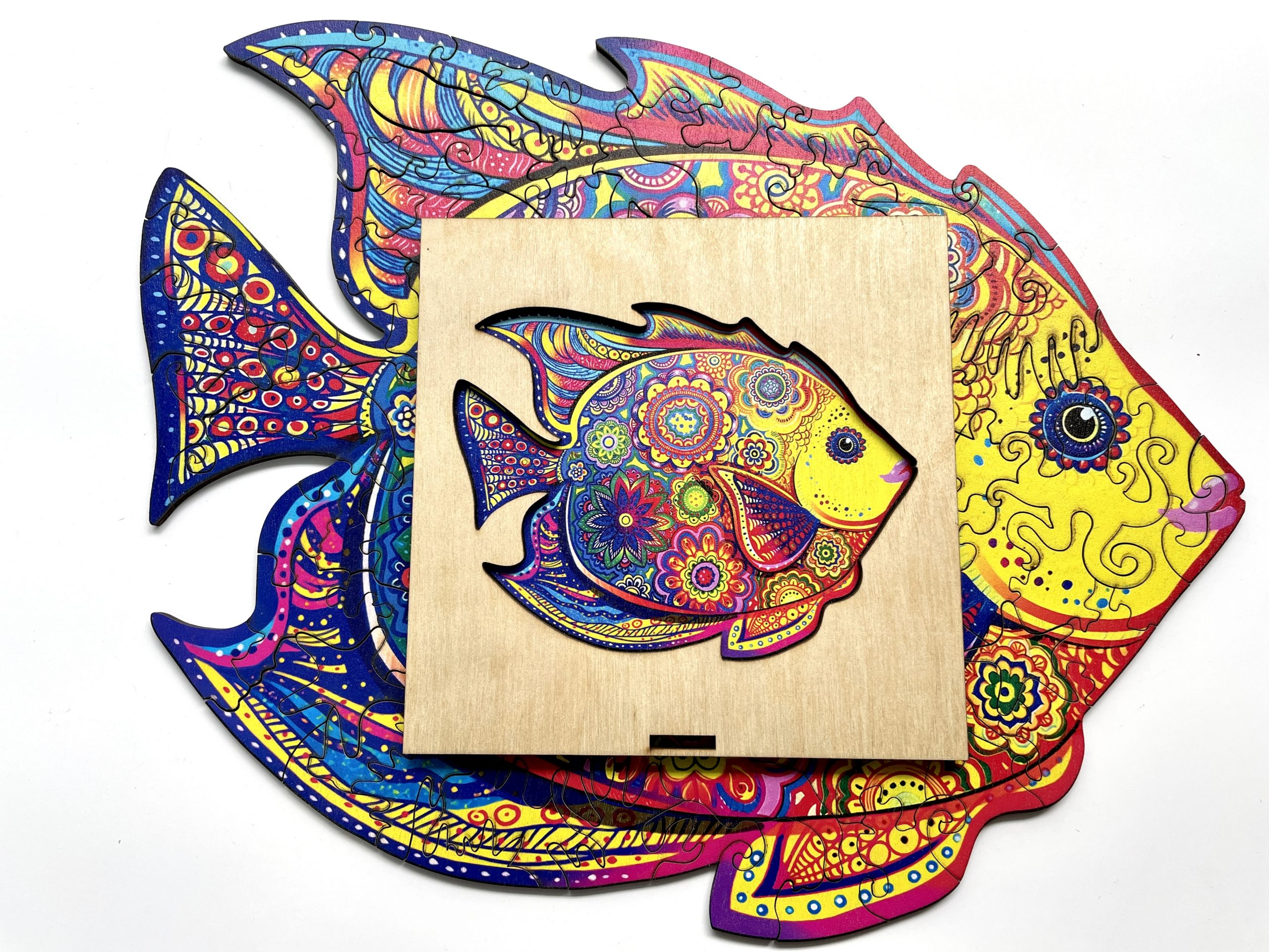 Shinning Fish Freestyle wooden Puzzle