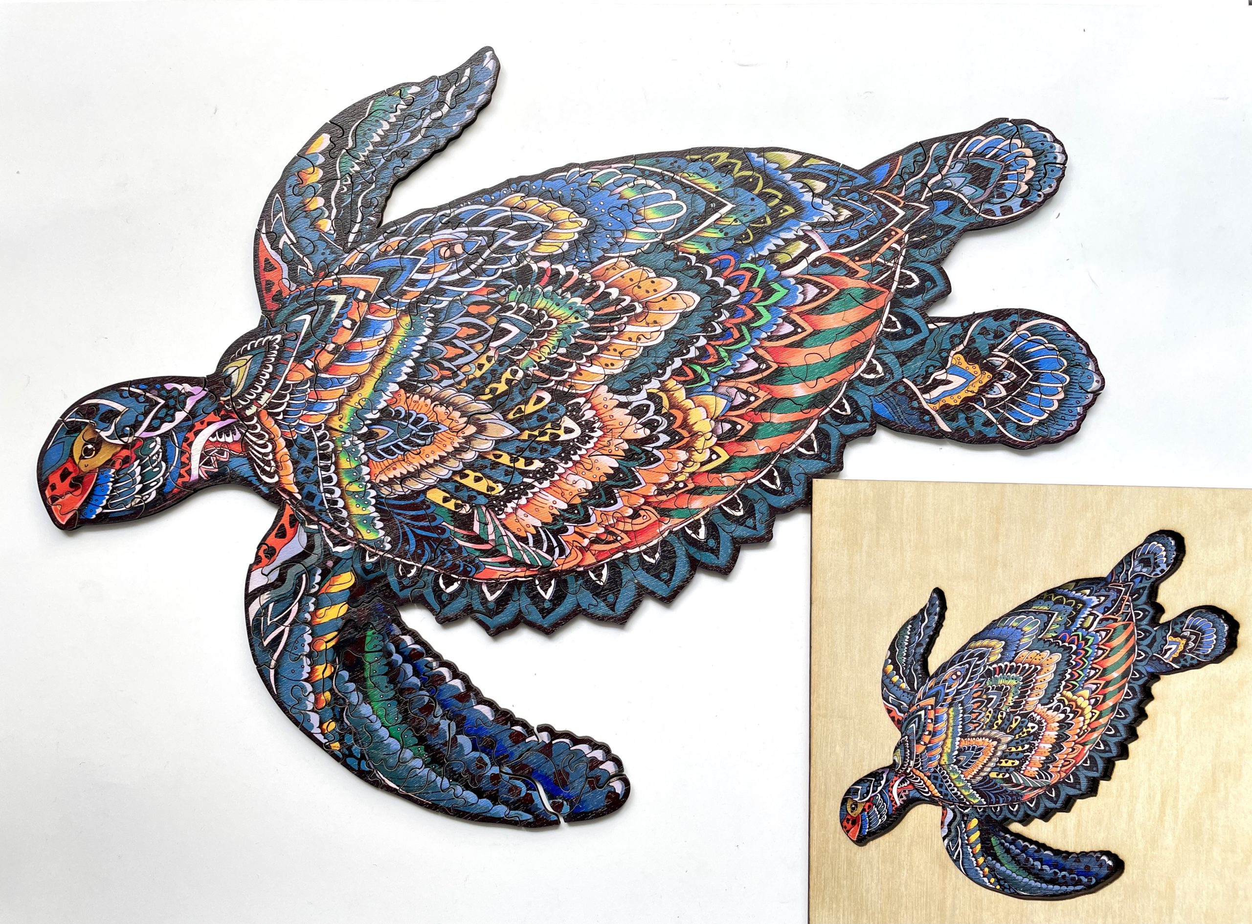 Sea turtle Freestyle wooden Puzzle