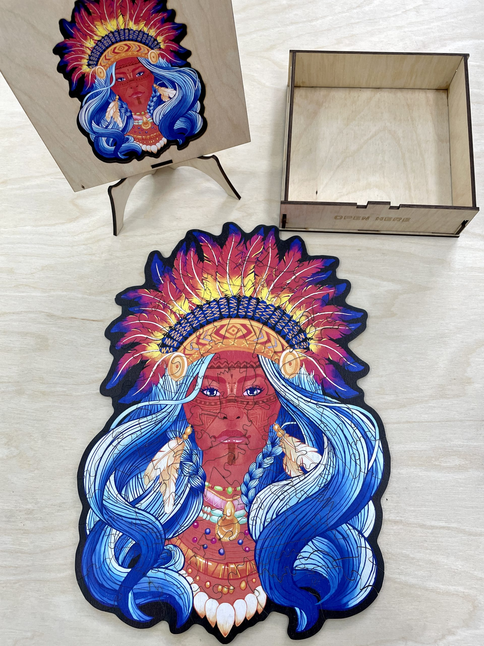 Indian Brave Freestyle wooden Puzzle