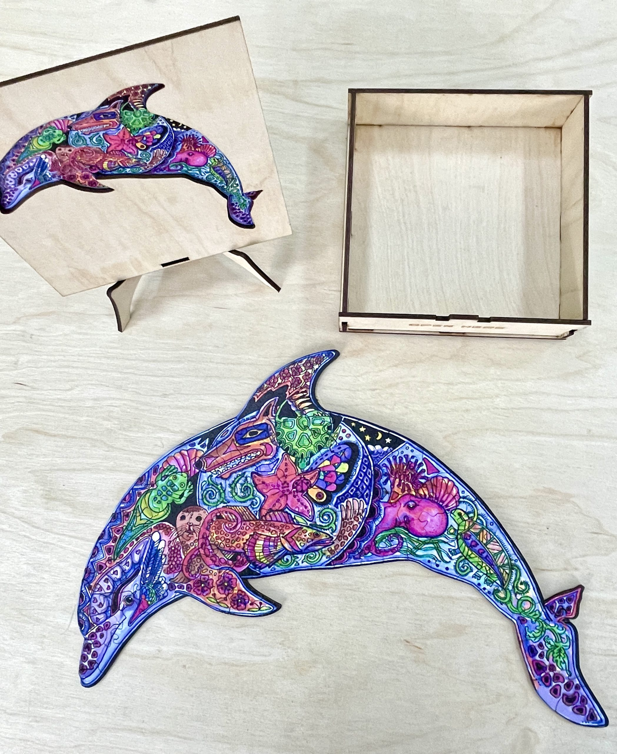 Dolphin Freestyle wooden Puzzle