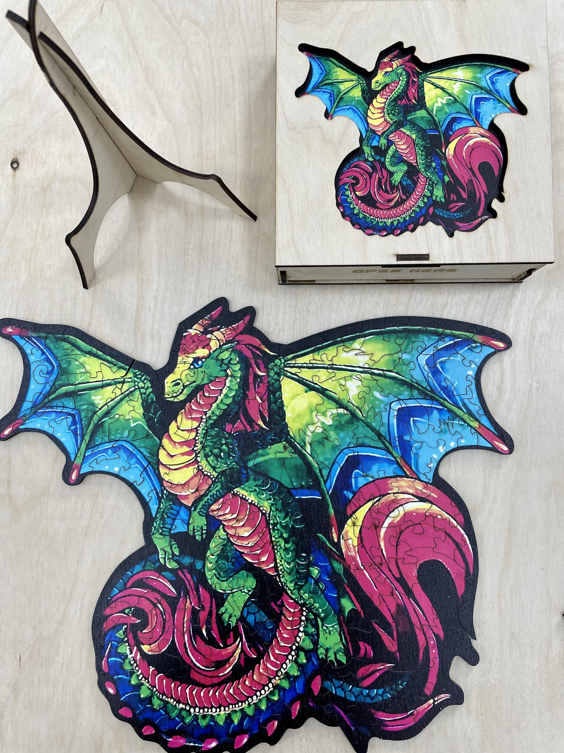 Rainbow Dragon Freestyle wooden Puzzle