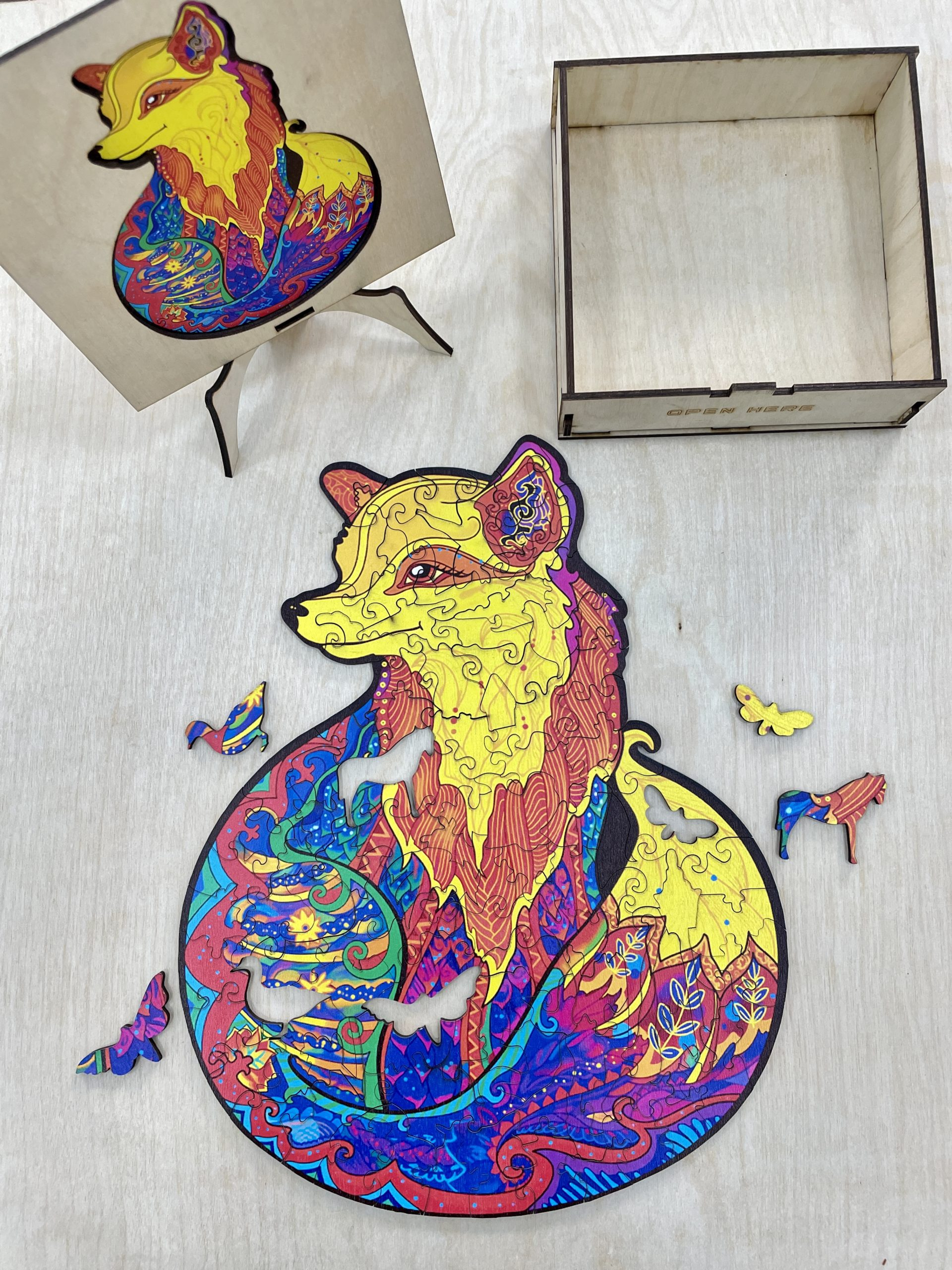Alluring Fox Animal Freestyle wooden Puzzle