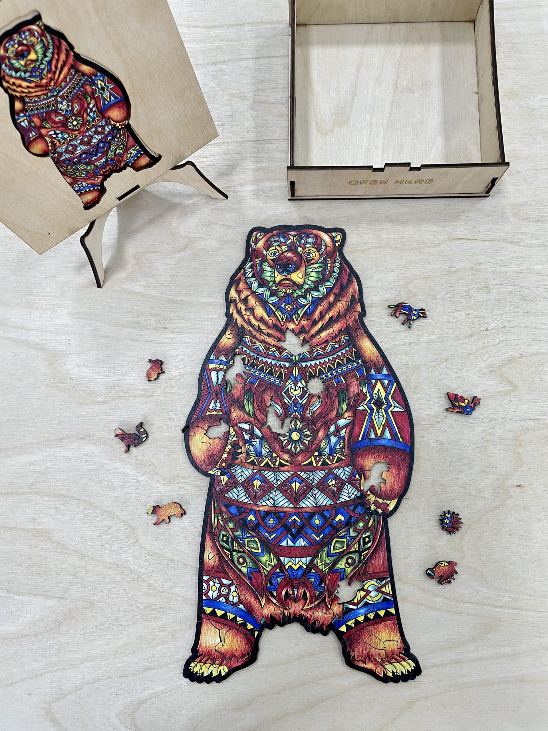 Charming Bear Freestyle wooden Puzzle