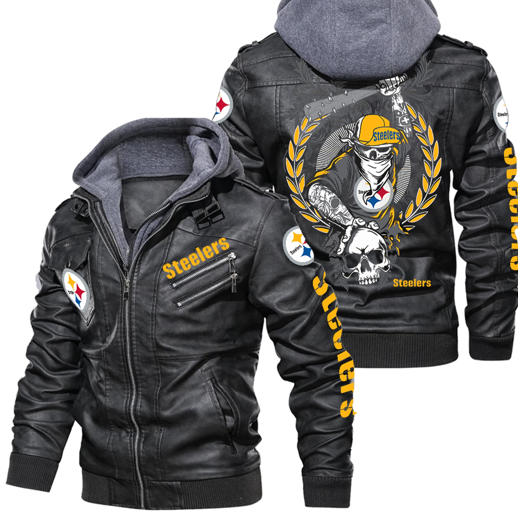 Pittsburgh Steelers Jacket – Leather Jacket,Warm Jacket, NFL Winter Outer Wear Gift